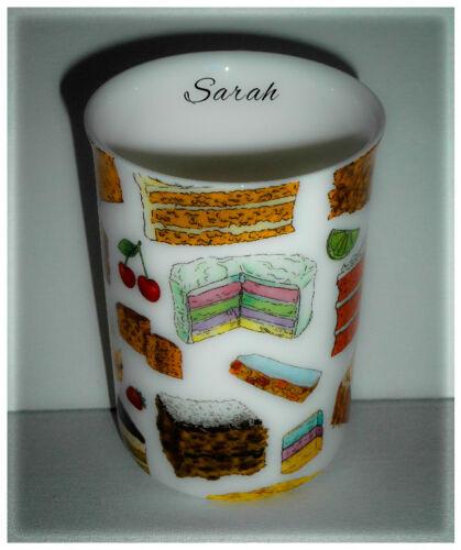 Bn personnalisé bake off thème gâteau bone china mug personnalisé boîte