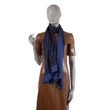 40692 auth PRADA blue & black wool cashmere & silk Shawl Shawl Scarf