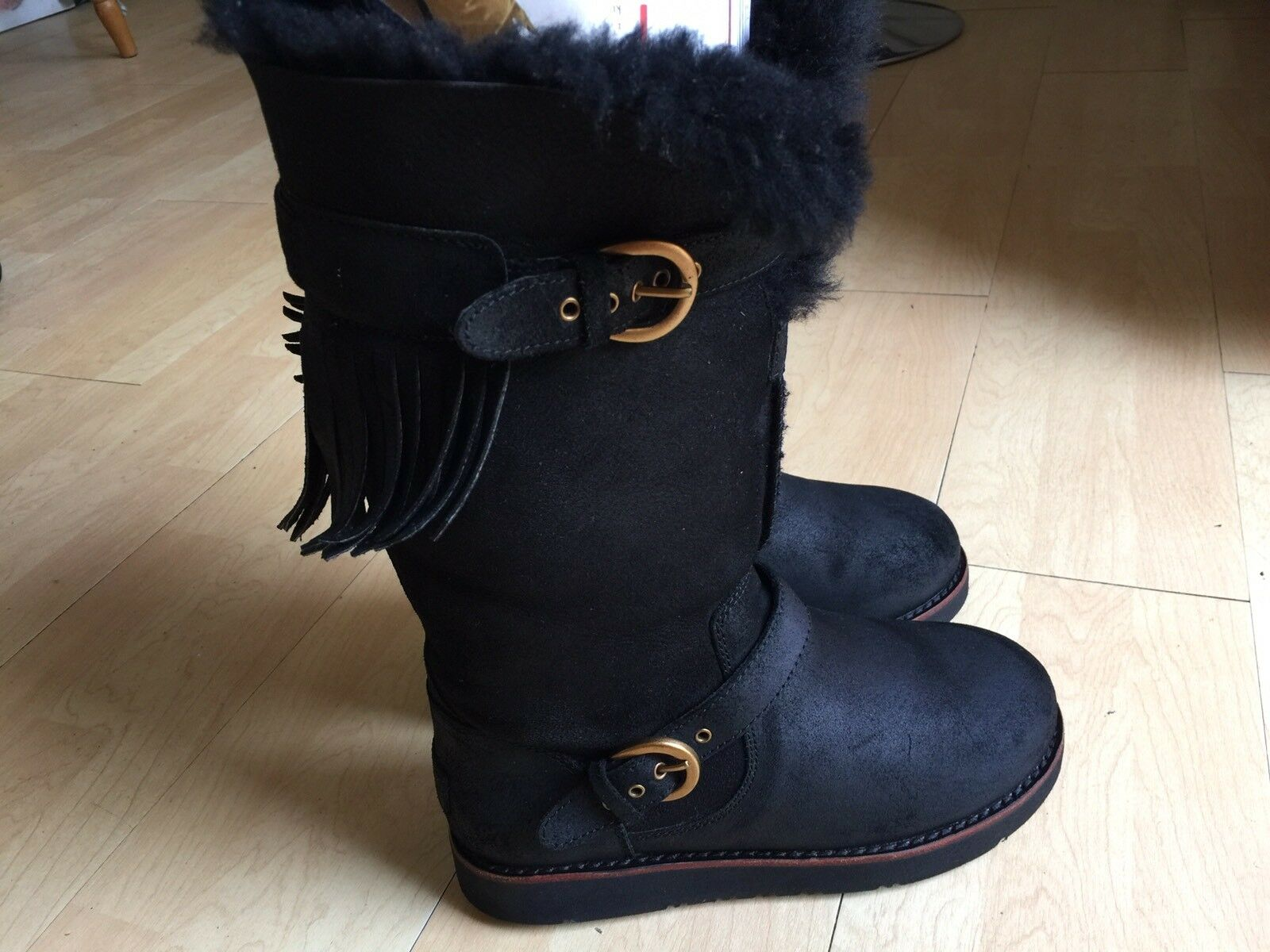 Man/Woman ladies black boots size to 4.5 Easy to size clean surface Fast delivery Maintenance capability 28cdd3
