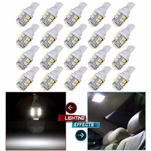 20PCS-Car-White-LED-Light-T10-10SMD-Wedge-W5W-2825-158-192-168-194-LED-Bulbs
