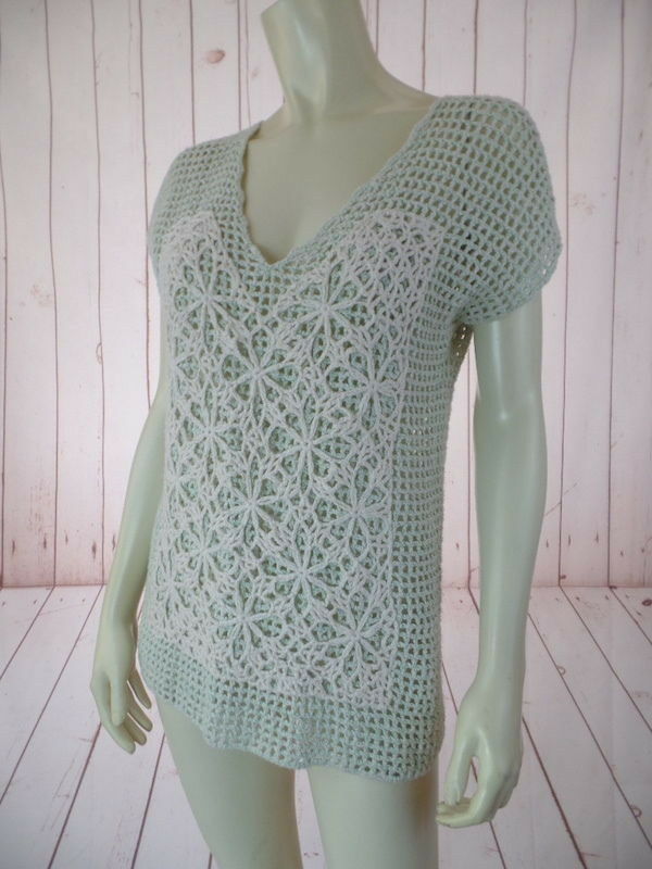 Field Flower Anthropologie Sweater Vest XS Mint G… - image 6