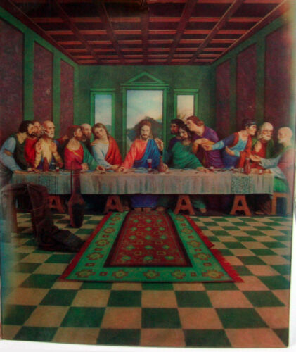 Last Supper Changes to Christ/'s Face 8x10 Poster Emdur 3D Lenticular Poster