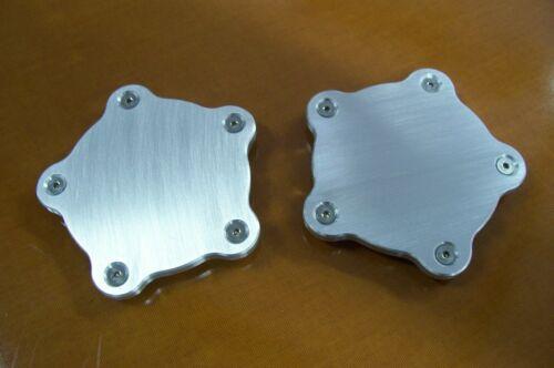 """For Showwheels American Legend Streeter Racer  Block-off Aluminum Flat Caps 1//4/"""""""