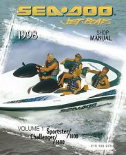 seadoo service shop manual 1998 sportster 1800 challenger 1800 ebay rh ebay com 1996 Seadoo Challenger 2001 sea doo challenger 2000 service manual