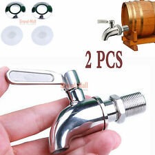 2 Beverage Drink Dispenser Wine Barrel Spigot/Faucet/Tap Valve Tap Stainless