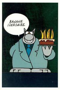 Details About Carte Postale Chat Le Anniversaire Banane Iversaire Editions Joker