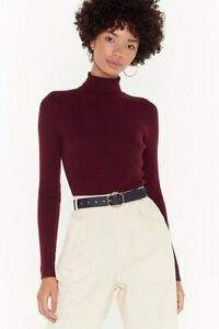 S-M-WOMENS-LADIES-RIBBED-POLO-NECK-JUMPER-TURTLE-ROLLNECK-FULL-SLEEVE-PLAIN-TOP