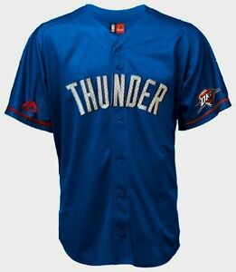 check out d7be2 a9d9f Details about Kevin Durant Oklahoma City Thunder Baseball Jersey Majestic  NBA The Durantula