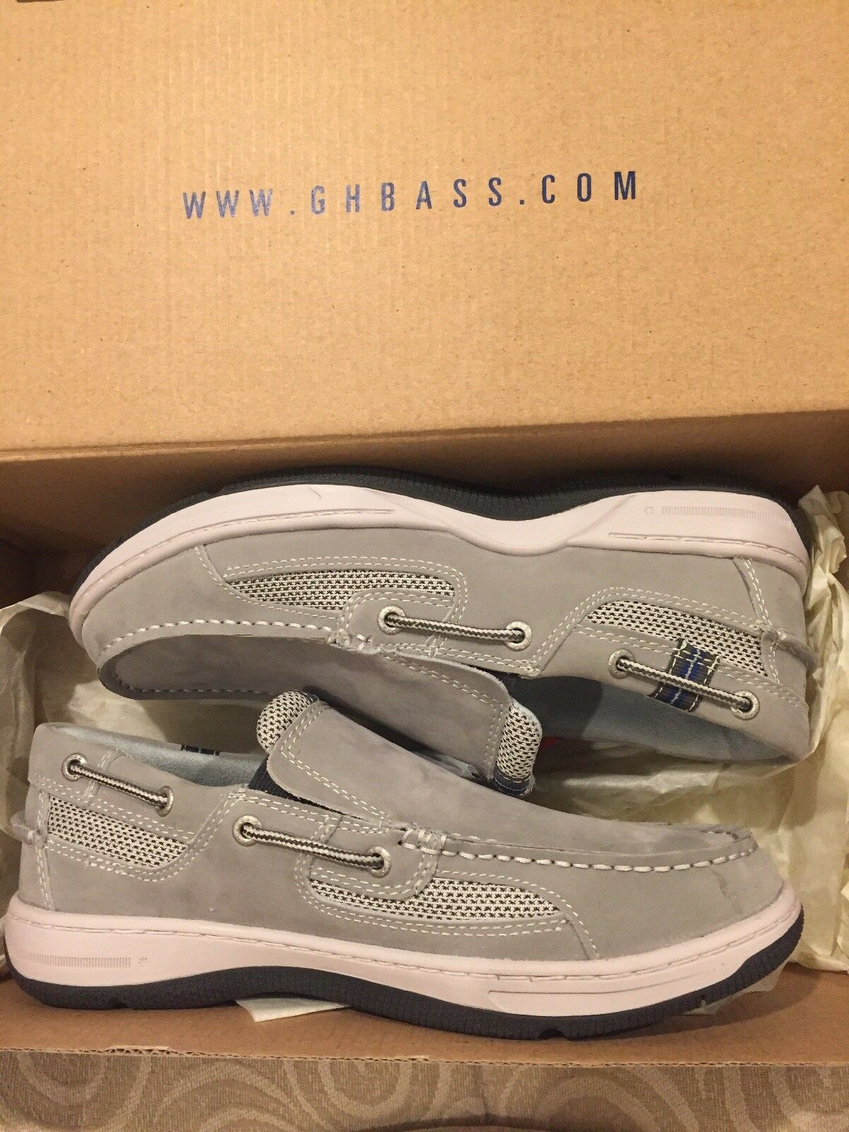 New  Men's BARON BOATER GREY ICE SZ 7.5M  0409-1144