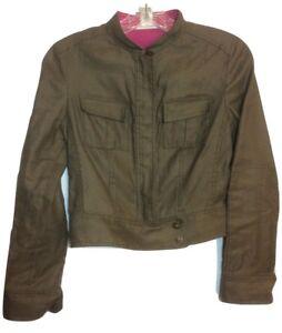 Diane Army Bomber 2 Green Euc Von Mess Jacket Blend Size Furstenberg Lino r6wrztxpq