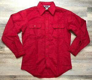 Vintage-Red-Big-Mac-JCPenney-Hecho-en-EE-UU-para-hombres-Camisa-Mediana-Nuevo-sin-etiquetas