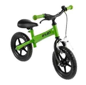 Draisienne avec frein vert enfant velo sans pedales garcon fille jouet NEUF bike