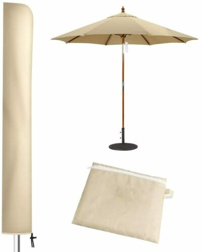 Patio Umbrella Cover for 7FT to 9FT Patio Umbrellas,1.7m Parasol Covers Khaki