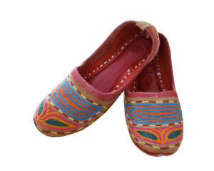 Women-Shoes-Indian-Handmade-Boho-Jutties-Flip-Flops-Multi-Color-UK-3-EU-35-5