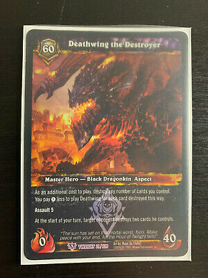 GNASH SKETCH CARD RARE WORLD OF WARCRAFT WOW TCG EXTENDED ART PROMO