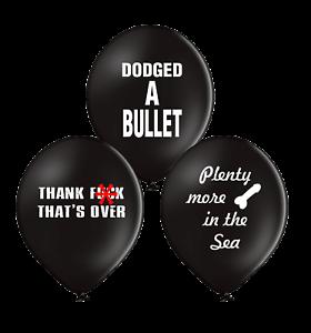 DIVORCE//SPLIT//BANTER//ABUSIVE//FUN 10 X GAME OVER GROUP BALLOONS
