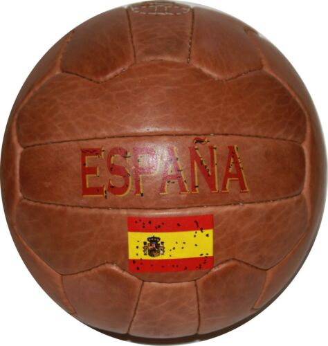 SPAIN  - Vintage Leather Soccer Ball 1966 -- 100% leather