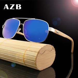 ae5ee5da9c Image is loading Unisex-Handmade-Bamboo-Wood-Retro-Sunglasses-Frame-Driving-