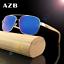 AZB Handmade Unisex Wood Sunglasses Wooden Temple Classic Square Glasses New