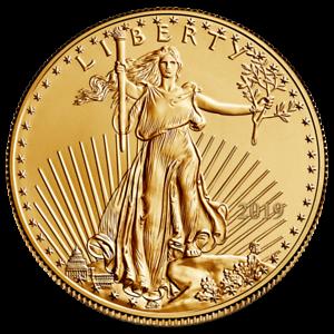 2019 US Gold Eagle 1//10 oz Coin