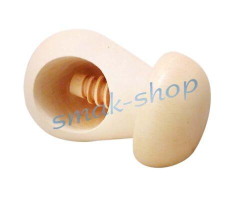 WOODEN SPIRAL SCREW NUTCRACKER CRACKER MUSHROOM NUT SHELL CRACKER CRUSHER
