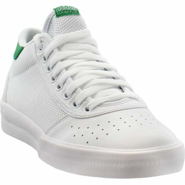 adidas Lucas Premiere Mid Sneakers Casual Skate White Mens