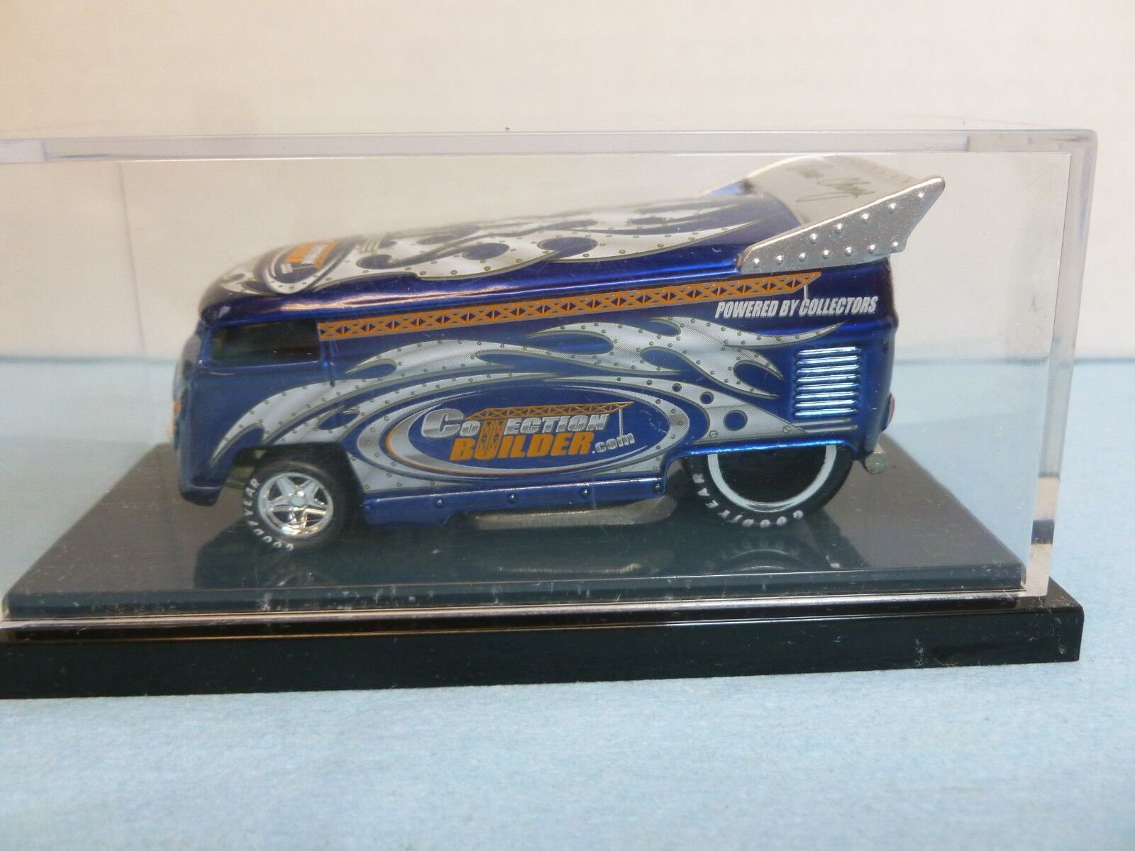 Hot Wheels LIBERTY PROMOTIONS COLLECTOR BUILDER - blu (VW DRAG BUS)
