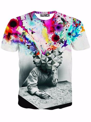 3D New Fashion Men/'s Slim Stamp Short Sleeve Casual Shirt T-Shirt Tee Top Blouse