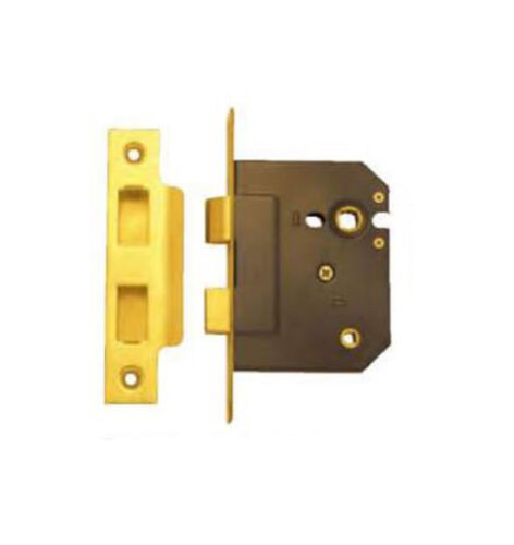 Superior Brass 9022 Heavy Duty Bathroom Mortise Lock Polished Brass 60mm