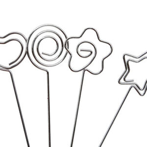 50Pcs-Set-Craft-Metal-Heart-Wires-Name-Photo-Card-Memo-Paper-Note-Clip-Holder-BS