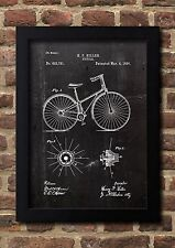 Bycicle 1890 Hiller Patent Art A4 Fine Art-Print in Galeriequalität A4. 01