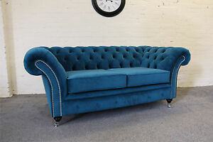 Superieur Image Is Loading Handmade Warwick Plush Velvet Fabric Chesterfield Sofa  Available