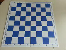 "Double Folding Blue White Tournament Chess Board 20"" with 2.25"" squares"