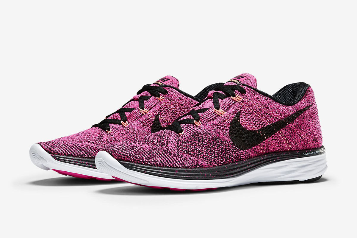 55fab4cff06a6 Womens New Nike Flyknit Lunar 3 Running Shoes Size 9.5 9.5 9.5 Color Pink  Black d4f5bc
