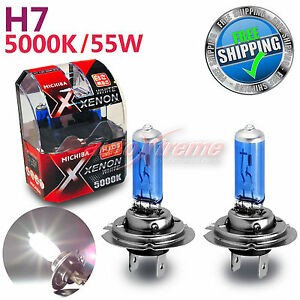 for holden michiba h7 12v 55w 5000k xenon white halogen light bulbs low beam 2pc ebay. Black Bedroom Furniture Sets. Home Design Ideas
