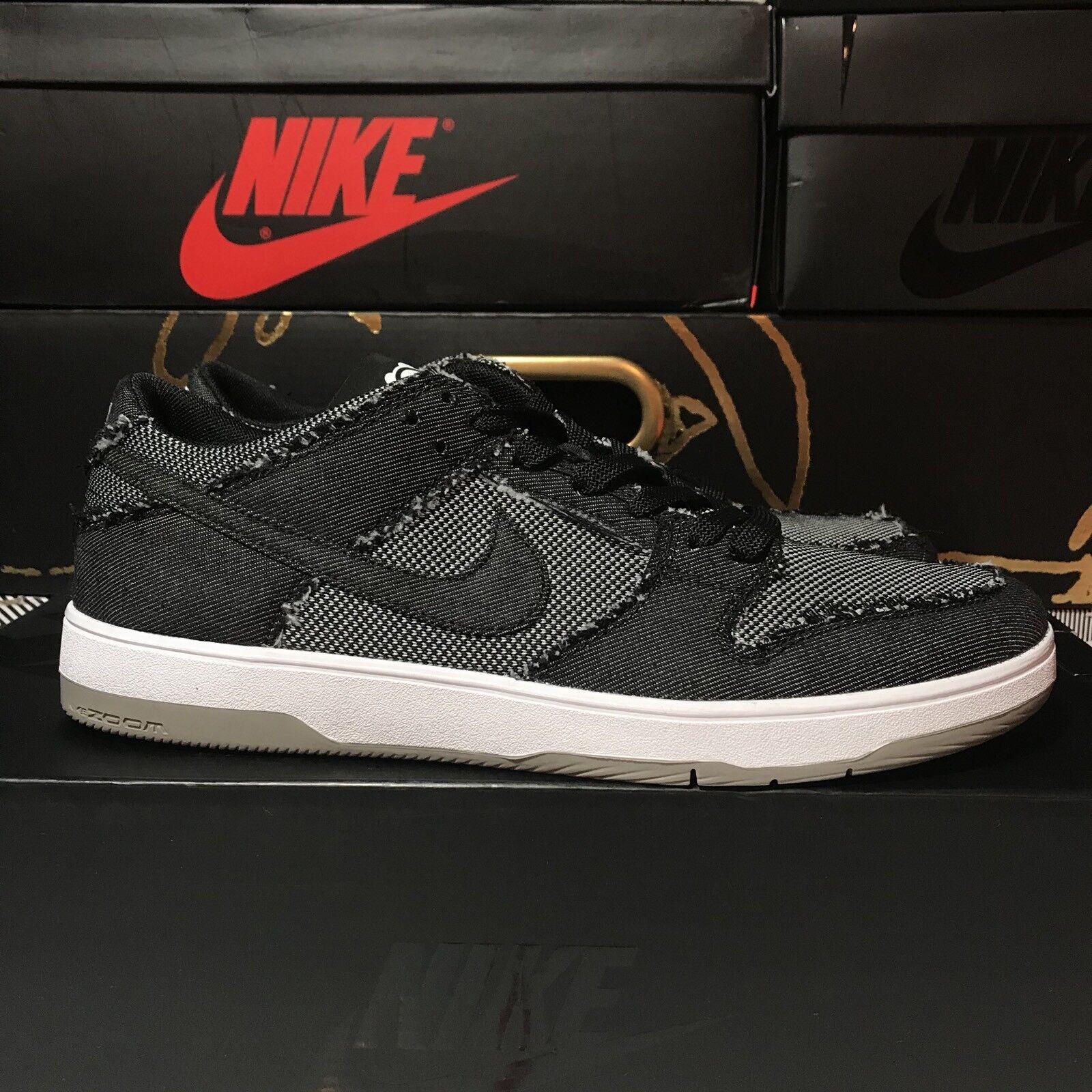 Nike SB Zoom Dunk Low Elite QS BearBrick Black White Grey 877063 002 Size 9