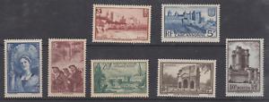 FRANCE-N-388-394-ST-MALO-AVIGNON-MINEURS-CHAMPENOISE-MNH-COTE-165