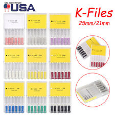 6pcs Dental K Files Endo Root Canal File Stainless Steel Hand Use 2125mm 6 40