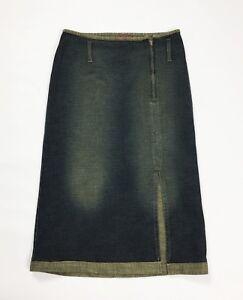 easy-blues-gonna-jeans-lunga-denim-blu-w28-tg-42-usato-spacco-vintage-T3968