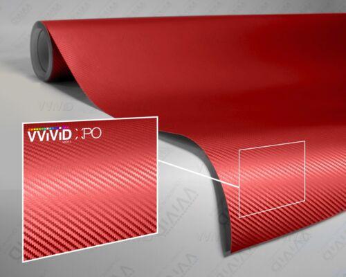 Vvivid Xpo Blood Red 3d carbon fiber vinyl car wrap decal