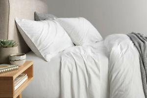 Sheridan Nashe Super King|King |QUEEN Bed sheet Set in White
