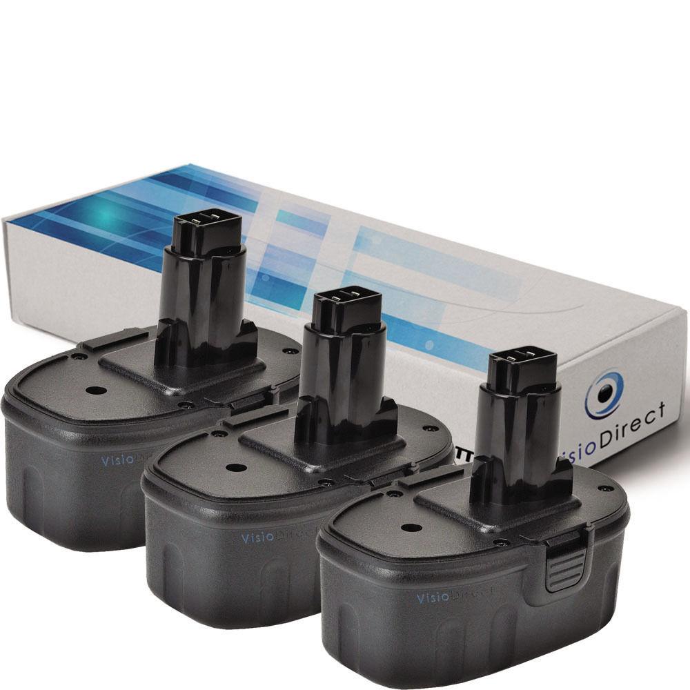 Lot de 3 batteries 14.4V 3000mAh pour Dewalt DC Series - Société Française -