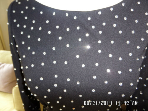 Reiss ornée coutures cristal Uk et longue 'piera' noires mi Robe 8 de qEg8TTw