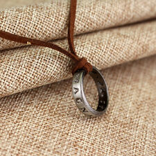 New  Uncharted 4 Drake's Vintage Band Ring Leather Code Pendant Necklace