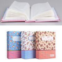 4R 6-Inch 100-Pocket Picture Album Case Baby Wedding Family Photo Holder Storage