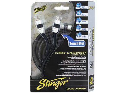 Stinger Pro 8000 Series Audiophile 20/' 2 Channel RCA Interconnects Cable SI8220