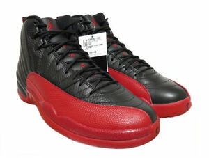 94dbf988cdb3 2016 Nike Air Jordan Retro 12 XII Black Varsity Red Flu Game 11 for ...