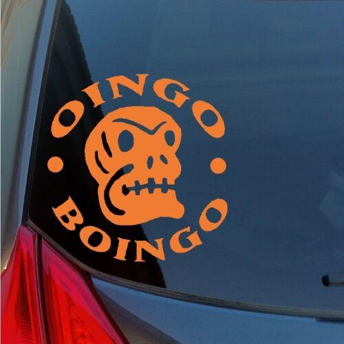 Oingo Boingo vinyl sticker decal Halloween skull muertos new wave eighties kroq