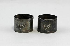 Pair Napkin Rings Art Nouveau 99830085