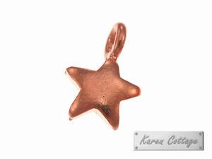 Karen-Hill-Tribe-Silver-Rose-Gold-vermeil-Plain-Tiny-Star-Charm-8-x-12-mm